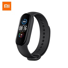 Original Xiaomi Mi Band 5 Smart Bracelet 1.1 AMOLED Colorful Screen Heart Rate Fitness Tracker Bluetooth 5.0 Waterproof Mi Band 5-China Verson Black