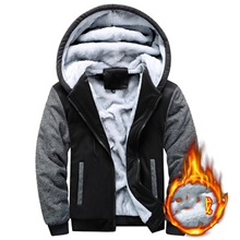Men's Hiking Fleece Jacket Outdoor Patchwork Windproof Fleece Lining Warm Comfortable Winter Jacket Full Length Visible Zipper Climbing Camping / Hiking / Caving Traveling Black / Red / Blue / Grey Black,M