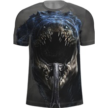Men's T-shirt Graphic Print Tops Basic Dark Gray Dark Gray,US34 / UK34 / EU42