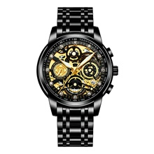 NEKTOM Men's Steel Band Watches Quartz Sporty Stylish Casual Water Resistant / Waterproof Stainless Steel Black / Silver / Gold Analog - Black+Gloden White+Golden White Black Gloden