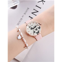 Women's Quartz Watches Quartz Butterly Style Stylish Fashion Chronograph PU Leather Pink Analog - Blushing Pink Blushing Pink