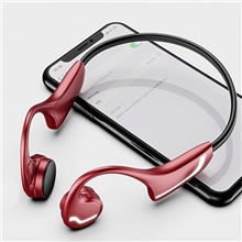 LITBest H9 Bone Conduction Headphone Bluetooth5.0 Stero Sweatproof IPX5 One Touch Control HD Call For Sport Red