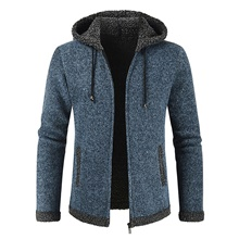 Men's Casual / Daily Classic Hooded Solid Colored Cardigan Long Sleeve Sweater Cardigans Hooded Fall Winter Blue Red Dark Gray Blue,US32 / UK32 / EU40
