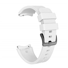 Replacement 22mm Stripe Silicone Black Clasp Wristband for Huawei Watch GT Sport Smart Watch Strap 22mm,White