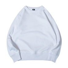 Men's Fleece Sweatshirt Long Sleeve Minimalist Sport Athleisure Pullover Breathable Warm Soft Comfortable Everyday Use Exercising General Use White,S