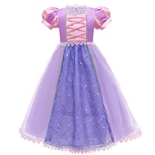 Princess Rapunzel Dress Flower Girl Dress Girls' Movie Cosplay A-Line Slip Purple Dress Christmas Halloween Children's Day Polyester Purple,100cm