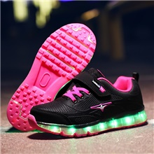 Boys' / Girls' Trainers / Athletic Shoes Children's Day / Luminous Fiber Optic Shoes Rubber / Synthetics Glitter Crystal Sequined Jeweled Big Kids(7years +) Walking Shoes Sequin / Luminous Purple Purple,US11.5 / EU29 / UK10.5 Little Kids