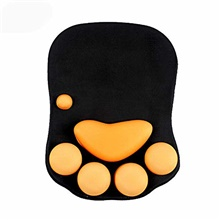 mouse pad with wrist support cat paw soft silicone wrist rests wrist cushion computer mouse pad mat desk decor & #40;10.7×7.8, black& #41; Green