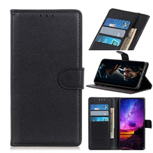 Case For Motorola P40 One Vision P40Power P40play ONEPRO ONE ZOOM P40 POWER One Action Ono Macro G8 PLAY ONE Hyper edge plus Card Holder Flip Magnetic Full Body Cases PU Leather TPU Litchi Grain MOTO P40,Black