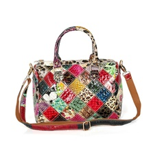 Women's Bags Cowhide Crossbody Bag for Date / Going out Rainbow / Fall & Winter Rainbow