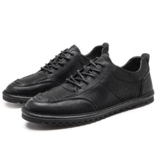 Men's Summer / Fall Business / Vintage / British Daily Office & Career Oxfords Nappa Leather Breathable Non-slipping Wear Proof Black / Khaki / Gray Black,US7 / EU39 / UK6 / CN39