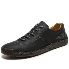 Men's Summer / Fall Business / Casual / Vintage Daily Office & Career Oxfords Nappa Leather Breathable Wear Proof Black / Khaki / Brown Black,US6-6.5 / EU38 / UK5-5.5 / CN38