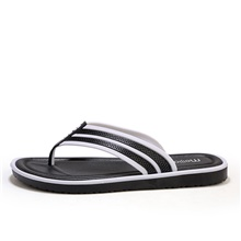 Men's Summer / Fall Beach Daily Slippers & Flip-Flops PVC Breathable Wear Proof Black and White / Black / Red / Yellow Black and White,US8 / EU40 / UK7 / CN41