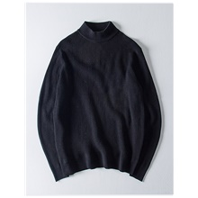 Men's Solid Colored Pullover Long Sleeve Sweater Cardigans Turtleneck Fall Winter Black Blue Red Black,US32 / UK32 / EU40