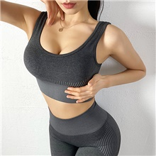 Women's 2-Piece Activewear Set Workout Outfits 2pcs Elastane Lightweight Breathable Quick Dry Fitness Gym Workout Running Active Training Jogging Sportswear Athletic Clothing Set Dark Grey Gray+Green Dark Grey,S