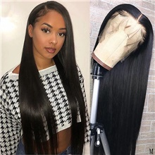 Remy Human Hair Lace Front Wig Free Part style Brazilian Hair Straight Natural Wig 150% Density Soft Women For Black Women Women's Long Human Hair Lace Wig Lace Front,Natural Color,150%,10 inch,Light Brown Lace,Average