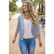 Women's Casual Knitted Slim Striped Solid Colored Cardigan Long Sleeve Sweater Cardigans V Neck Fall Winter White Black White,S
