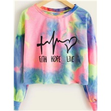 Women's Sweatshirt Graphic Cute Hoodies Sweatshirts  Rainbow Rainbow,S
