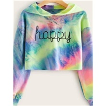 Women's Hoodie Tie Dye Basic Hoodies Sweatshirts  Yellow Blushing Pink Yellow,S