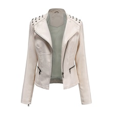 Women's Jacket Daily Basic Short Solid Colored White / Black / Red S / M / L White,S